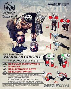 kettlebell workout: valhalla circuit odin