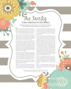 LDS Family Proclamation-Printable-Instant by periwinkleinc on Etsy