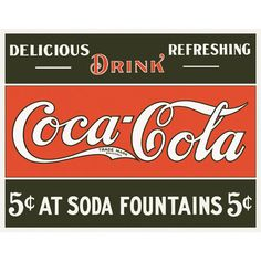 Coke 5 cents at Fountains