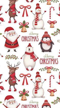 Christmas Scenes, Christmas Art, Beautiful Christmas, Christmas Decorations, Christmas Doodles, Christmas Clipart, Christmas Greetings, Illustration Noel, Christmas Illustration
