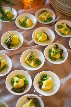 23 City Blocks - Catering - St. Louis, MO - Wedding - Reception - Corporate - Lemon Ricotta Tortellini - so dreamy and decadent!  Photo Credit: Heather Roth Photography