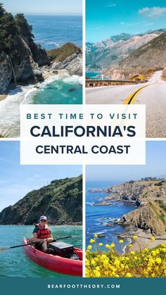Learn about the best time to visit California's Central Coast, plus the best activities to do in each season when you're there. Visit California, California Coast, California Travel, Cambria Beaches, Beach Vacation Packing List, Ways To Travel, Travel Tips, Whale Watching Tours, Road Trip Hacks