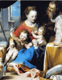 Paa.la - Barocci Federico - Madonna col Bambino, San Giuseppe e San Giovannino (Madonna del gatto) Mary w St Joseph, St John the Baptist, and Jesus :)))) <3 need this one on my wall
