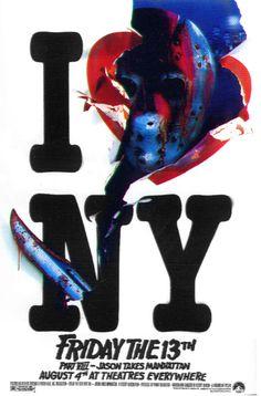 Friday the 13th Part VIII: Jason Takes Manhattan movie poster (1989)- Original version