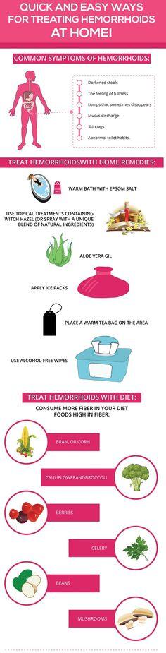 quick-ways-for-treating-hemorrhoids-home-infographic.jpg (650×2550) #hemorrhoids treatment