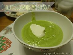 Chilled Cucumber-Melon Soup