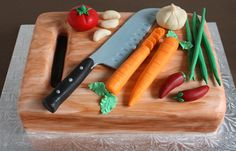 For culinary fan...Fondant vegetable, gumpaste knife.  TFL