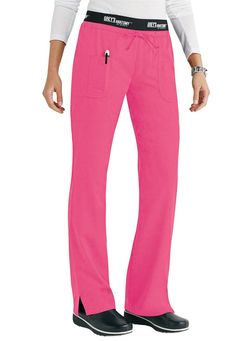 Grey's Anatomy Active low rise logo waist scrub pant in Hot Pink | Scrubs and Beyond