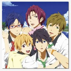 Official Free! Iwatobi Swim Club Canvas Art - Group