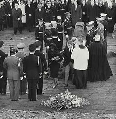 November 25, 1963.....Jacqueline and Robert Kennedy leave Arlington Cemetery at the conclusion of the funeral.