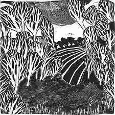 linocut landscape - Google Search