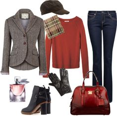 """""""Warm look for a saturday coffee with friends"""" by bonica82 on Polyvore"""