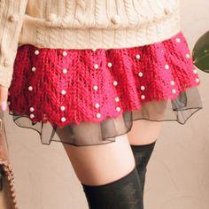 pink pearl skirt