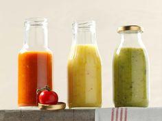Dreierlei Tomaten-Ketchup ist ein Rezept mit frischen Zutaten aus der Kategorie Kochen. Probieren Sie dieses und weitere Rezepte von EAT SMARTER!