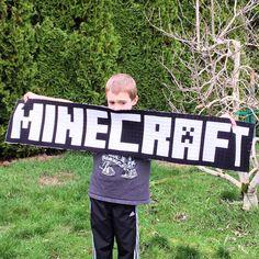 Minecraft Block 17: Title Block Minecraft Blocks, Minecraft Art, Minecraft Projects, Title Block, Quilt Patterns, Quilting Ideas, Block Craft, Sewing For Kids, Quilt Blocks