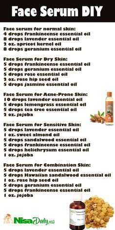 How To Make Face Serum Recipes For Dry Skin, Oily Skin, Normal Skin, Sensitive Skin? face serum for dry skin. Serum For Dry Skin, Oil For Dry Skin, Skin Serum, Skin Oil, Face Serum Diy, Diy Facial Serum, Facial Diy, Essential Oils For Face, Oily Skin Care