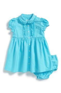 Ralph Lauren Oxford Dress  amp  Bloomers (Baby Girls) available at  Nordstrom  Baby 9568d13dad9