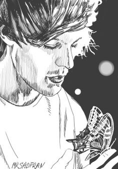 louis tomlinson Harry Styles One Direction Zayn Malik liam payne Niall Horan drawing art Black and White 1D b&w My art louis black artist 1direction butterfly drawings digital art Tomlinson artist on tumblr 1d art one direction art 1d fanart one direction fanart wwa wwat wwa tour wwa louis 1d artists community