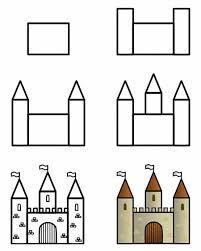 """Résultat de recherche d'images pour """"chateau dessin facile"""""""