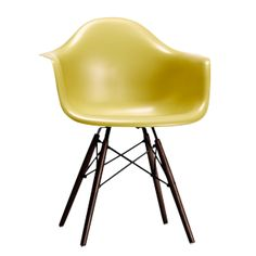 DAW Walnut Chair in ABS