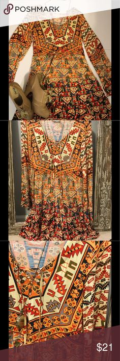 NEW LISTING Altar'd State dress❤️❤️❤️❤️ NEW LISTING Altar'd State long sleeve dress. EUC with no holes or stains. The dress is approx 33 in from top of shoulder to bottom hem. The dress is 100percent rayon and is hand wash. Altar'd State Dresses Midi
