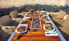 Korean BBQ in a picnic table! This is too cool and we need it!