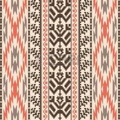 Ethnic textile decorative ornamenral striped seamless pattern photo