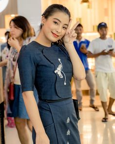Stylish Dresses, Cute Dresses, Formal Dresses, Traditional Dresses Designs, Myanmar Dress Design, Myanmar Traditional Dress, Dress Sewing Patterns, Colourful Outfits, Lace Dress