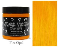 Lunar Tides Hair Dye - Fire Opal Orange Yellow Semi-Permanent Vegan Hair Color fl oz / 118 ml) >>> You can find more details by visiting the image link. (This is an affiliate link) Yellow Hair Dye, Dyed Hair Pastel, White Hair, Hair Color Brands, Bleaching Your Hair, Semi Permanente, Semi Permanent Hair Color, Light Brown Hair, Light Blonde