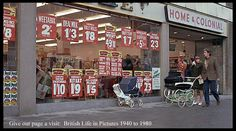 """Still from 'Baby Snatchers' skit from Monty Python's """"And Now for Something Completely Different"""" Sign Writing, Monty Python, Shop Fronts, Painted Paper, Painted Signs, Vintage Shops, Colonial, Hand Lettering, Nostalgia"""