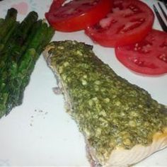 Stephan's Broiled Salmon Pesto Allrecipes.com