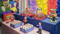 Wiggles party Wiggles Birthday, Wiggles Party, The Wiggles, Sons Birthday, Boy First Birthday, 2nd Birthday Parties, Birthday Ideas, Happy Birthday, Online Party Supplies