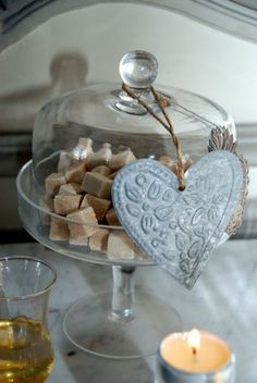 what a nice way to display sugarcubes.   The Basket of Inspirations