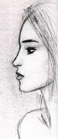 face sketch by dashinvaine.deviantart.com on @DeviantArt: