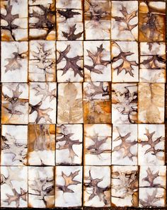 Snips and Snails and Puppy Dog Tails: Oak leaves on paper
