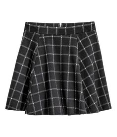 H&M circle skirt in Check