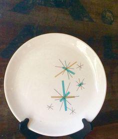 North Star Dinner Plate  Salem China ca. 1960 by putnamandspeedwell