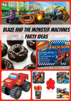 Lots of Blaze and the Monster Machines Birthday Party Ideas here to plan a party and plenty of supplies and inspiration featured for decorations, favors, invitations, cake, games, food and more.