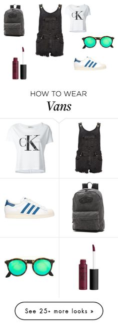 """""""Untitled #1504"""" by linkinparkgirl on Polyvore featuring Calvin Klein Jeans, River Island, adidas Originals, Vans and Ray-Ban"""