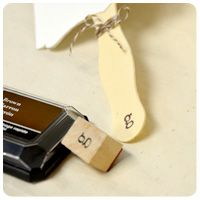 Stamp wedding fan sticks with a saying or initial! #DIY