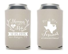 Antler Wedding Favors State Pride Wedding Favors Custom Wedding Shower Gifts House Warming Party Gift Can Coolers Rustic Favors 1122 by SipHipHooray