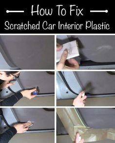 Scratched Car Interior Plastic