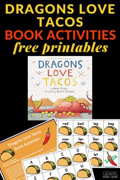 A printable game called Taco, Taco, Salsa (letter identification and cvc word options) are the perfect Dragons Love Tacos activities. Preschool Literacy, Free Preschool, Literacy Activities, Educational Activities, Educational Websites, Reading Activities, Activities For Kids, Reading Fluency, Guided Reading