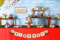 Angry Birds party idea via Kara's Party Ideas karaspartyideas.com #angry #birds #party #ideas
