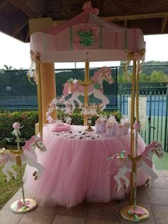 Discover thousands of images about Carousel Theme Candy Station Carousel Birthday Parties, Carousel Party, Carnival Themed Party, Circus Birthday, Unicorn Birthday Parties, Unicorn Party, Baby Birthday, Birthday Decorations, Birthday Party Themes