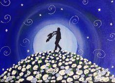 Papa jugando con su hija con relieves de las rosas en blanco  Pedidos y más cuadros en mi Facebook Cuadritos de Colores y en mi blog www.miscuadritosdecolores.blogspot.com