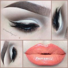 """I received tons of requests in my inbox to do a simple yet subtle cut crease. I used my @Amanda @ Black Rabbit Studio #035 brush to achieve the soft cut crease. Eyes - @NYX Cosmetics Eyeshadows in """"Tryst"""" & """"Happy Hour."""" MAC """"Brun,"""" """"Vanilla,"""" """"Gesso,"""" & """"Espresso"""" Eyeshadows."""