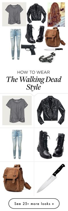"""""""the walking dead"""" by fiwipa2000 on Polyvore featuring Abercrombie & Fitch, Off-White, Bebe and J.A. Henckels"""