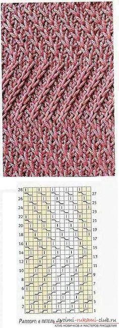 Вяжем красивые узоры перекрещенными петлями. Фото №1