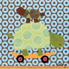 Oopsy Daisy Skateboarding Turtles Stretched Canvas Wall Art by Winborg Sisters, 10-1/2 by 10-1/2-Inch by Oopsy daisy, Fine Art for Kids. $49.00. No framing required. Wipes clean with damp cloth. Giclee on canvas. Sawtooth makes it easy to hang. Made in the Unites States. Our stretched canvas wall art reproductions are created in Oopsy daisy's San Diego studios where we print in the best digital method currently available, achieving great clarity and color resolution in...